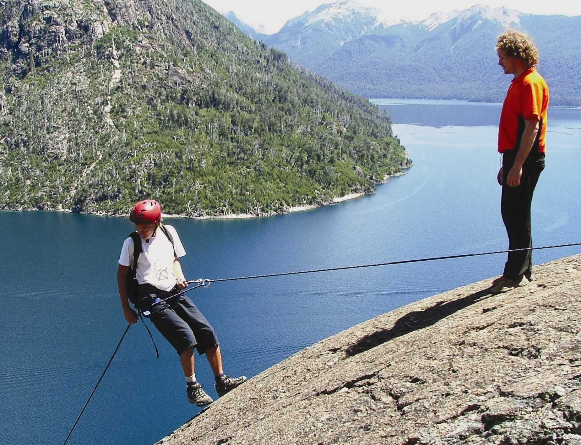 Adventure in Argentina-Rappelling in the Lake District