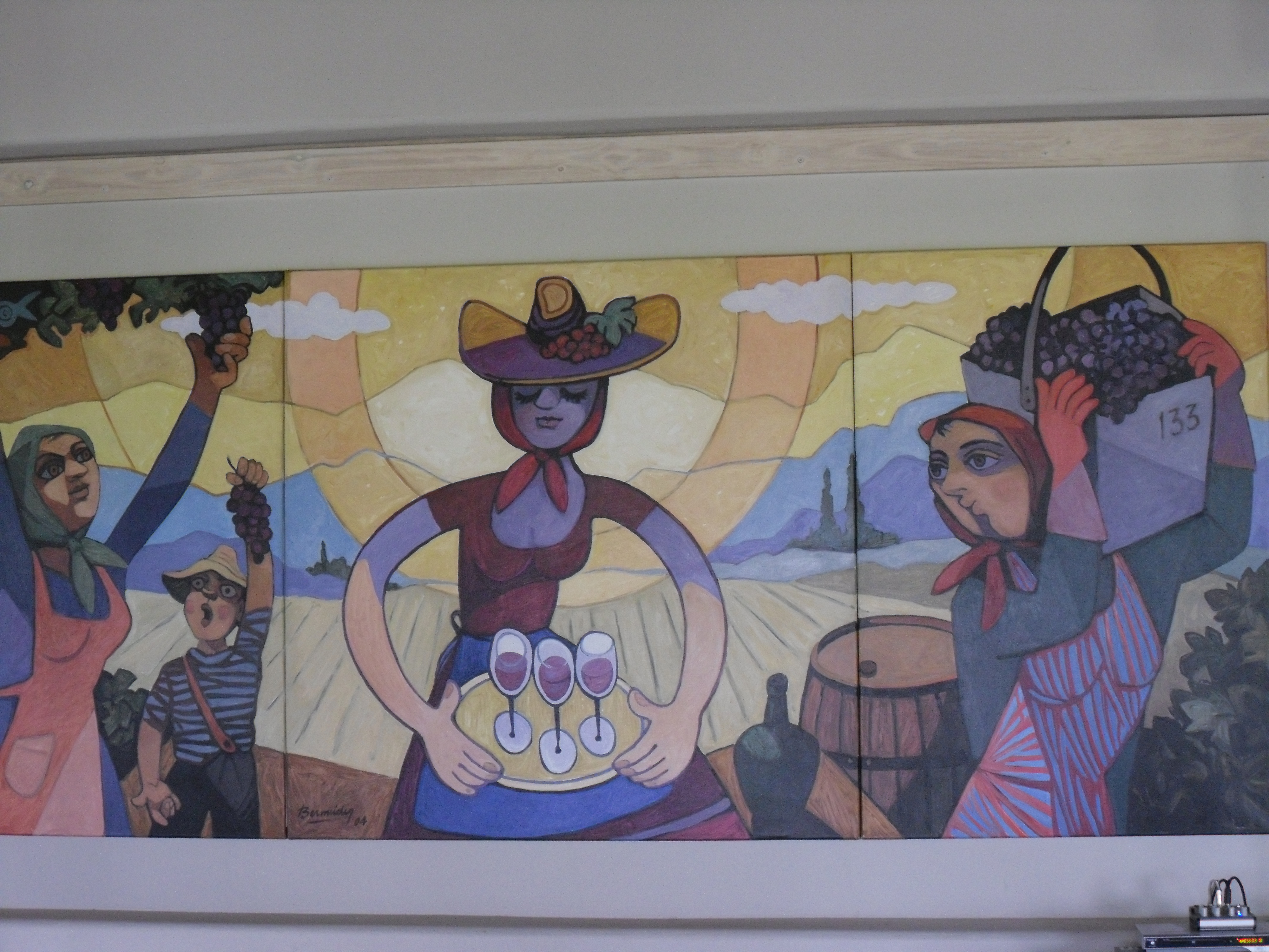Argentina Wine country mural