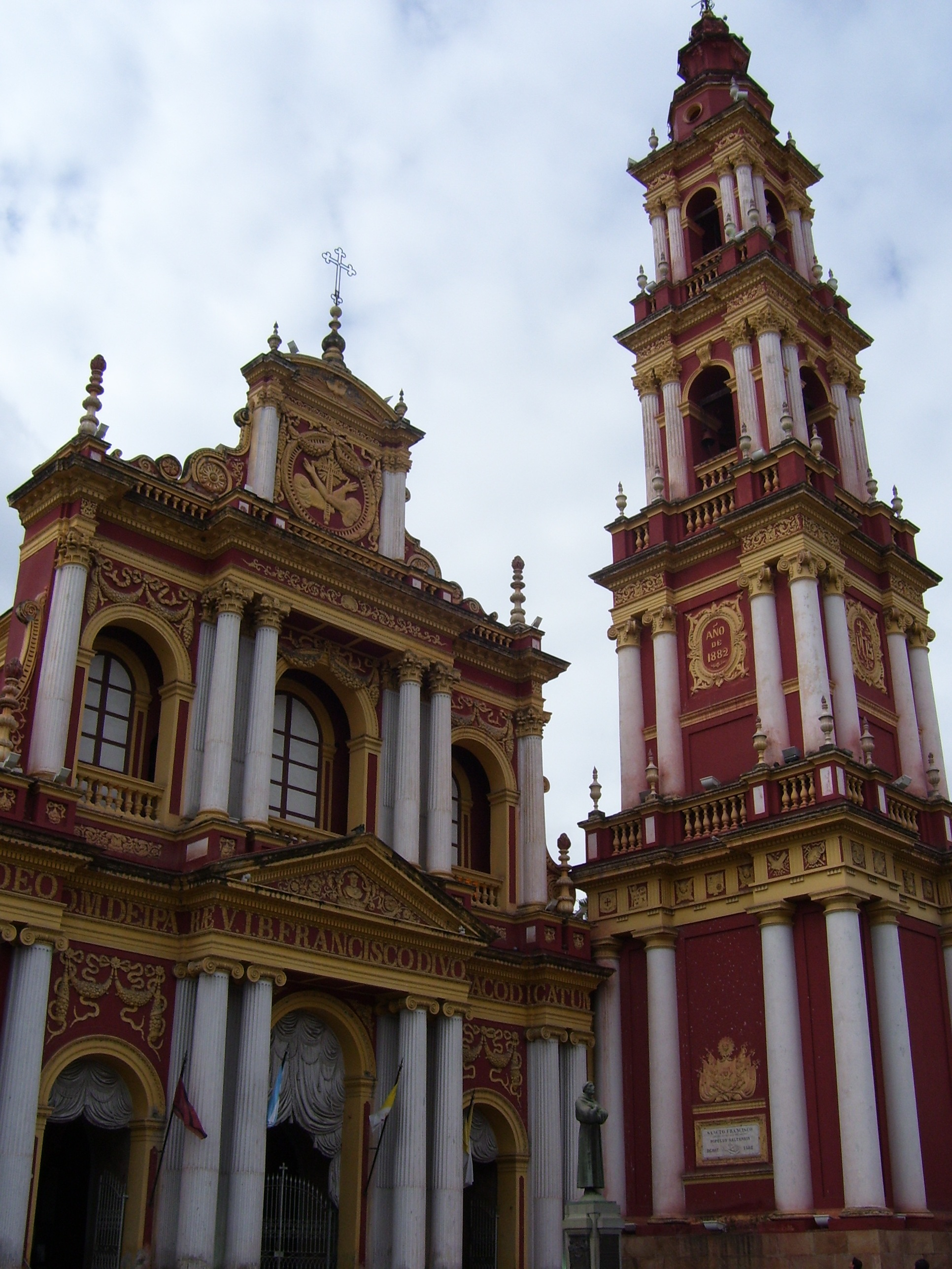 Church of San Francisco in Salta's colonial center, Argentina