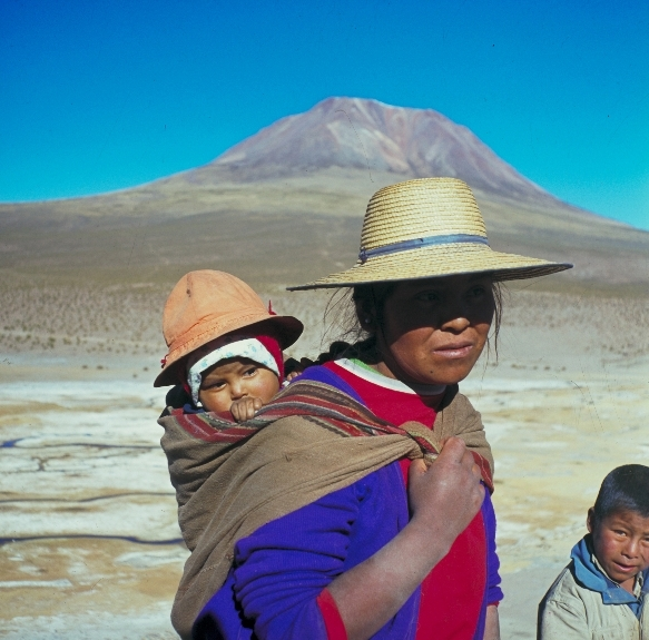 Altiplano family in Chile's northern deserts