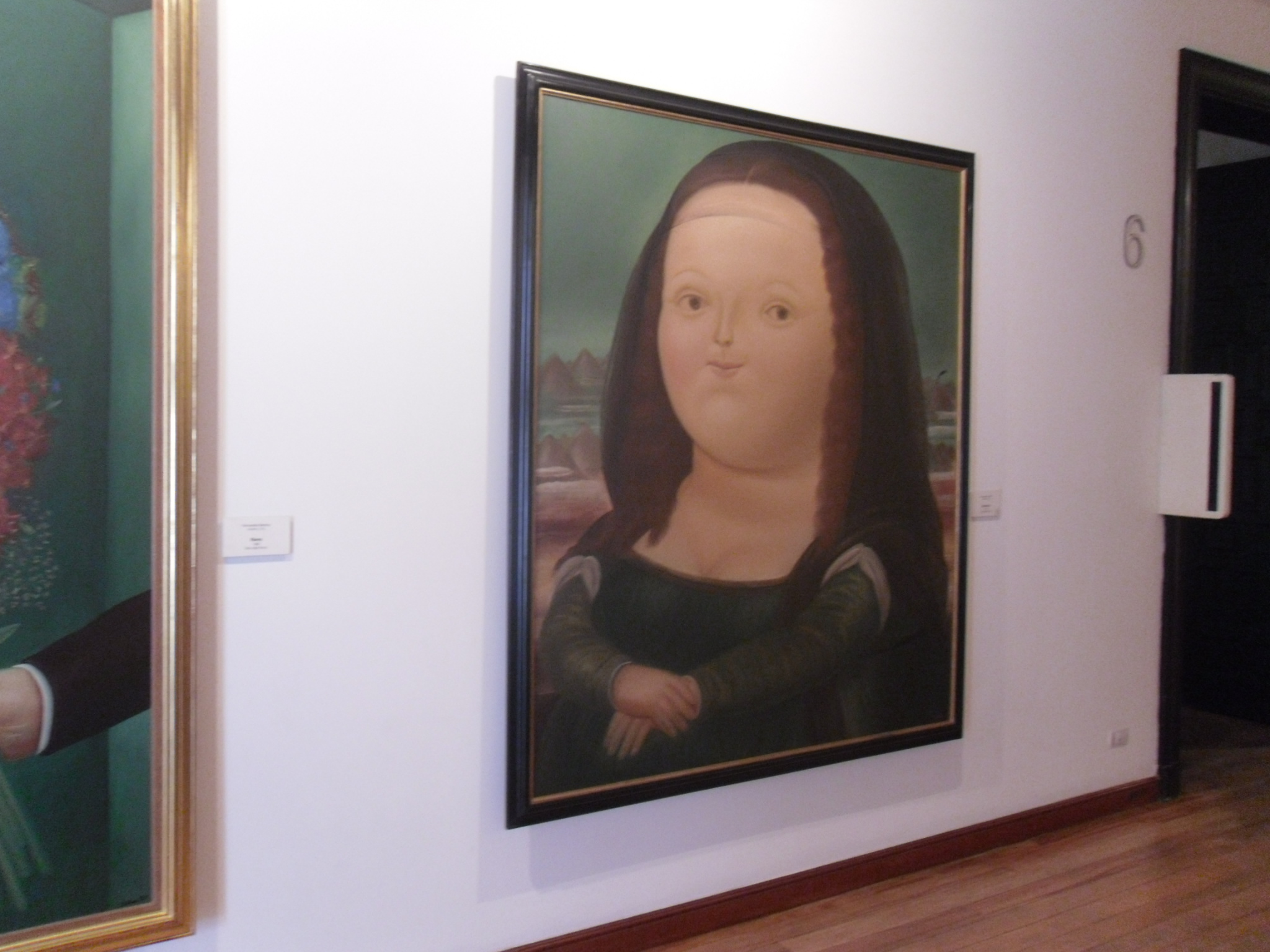 Botero's famous works displayed at the Botero Museum Bogota Colombia