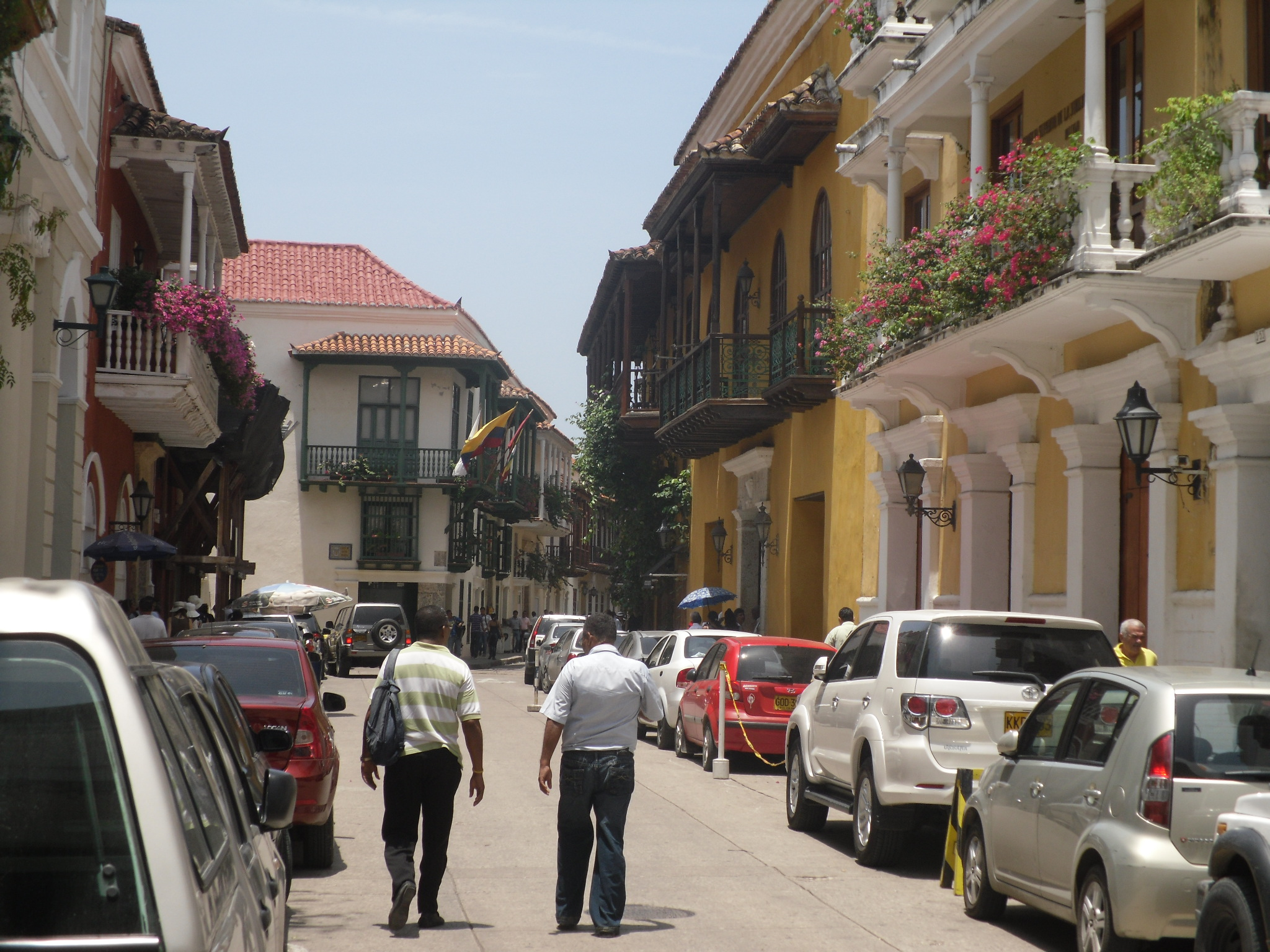 Cartagena Colombia old city streets