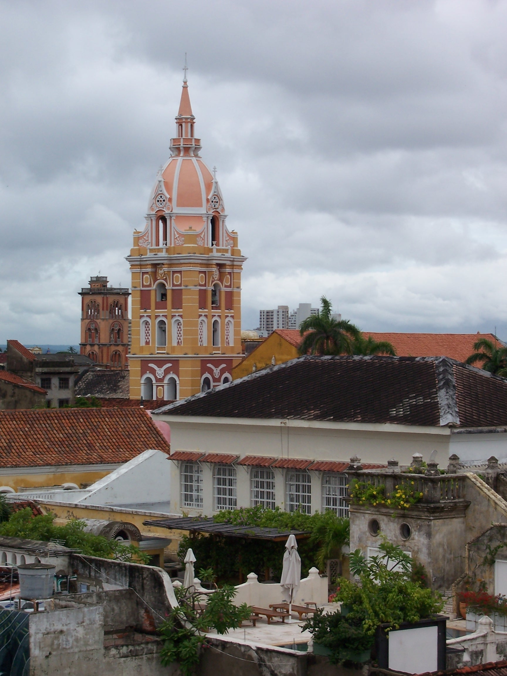 Striking architecture in the Historic Center Cartagena Colombia