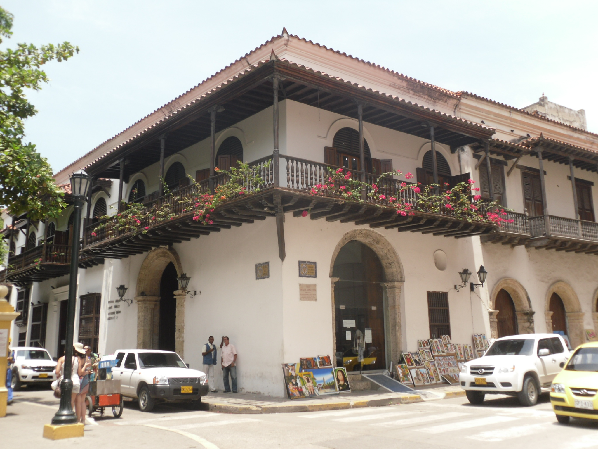 Selling art in Cartagena Colombia