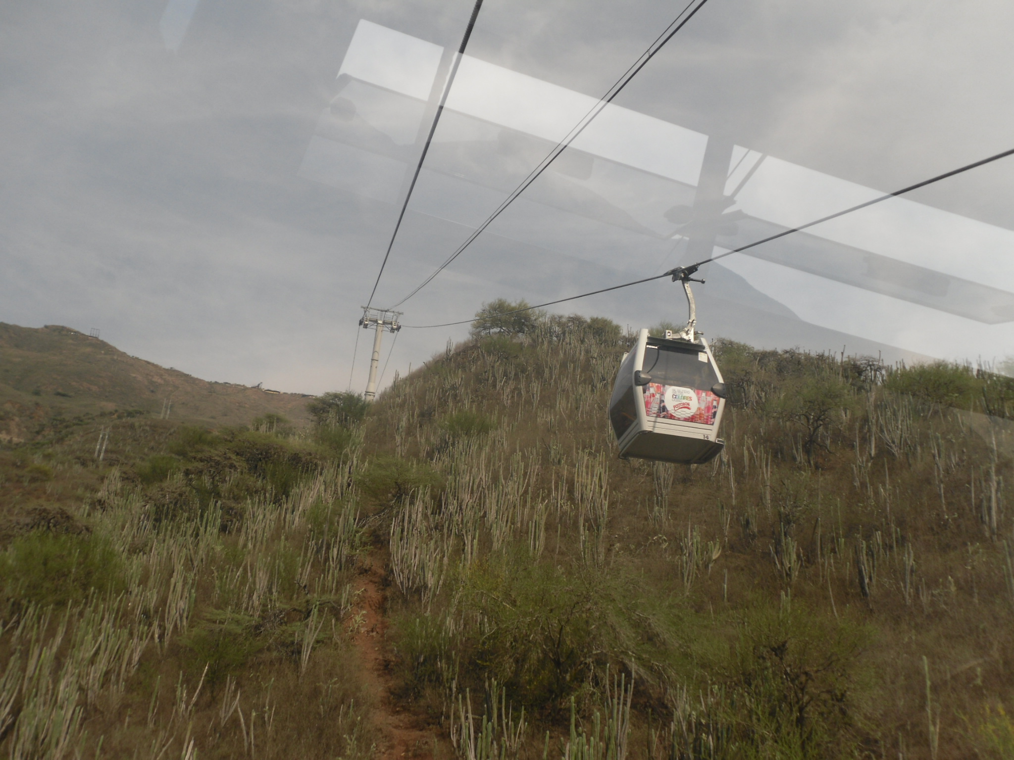 Tram ride in the Chicamocha canyon enroute to Barichara Colombia