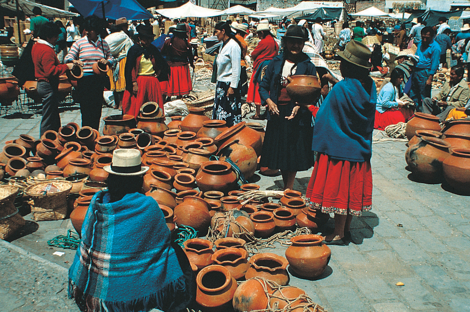 Market day in Ecuador