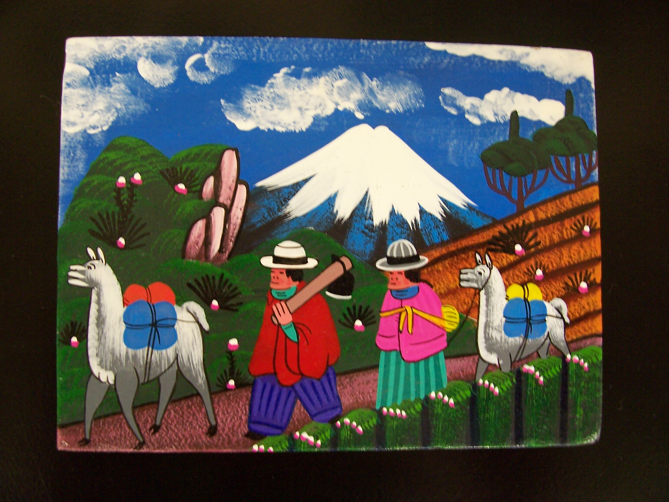 Tigua paintings from Ecuador