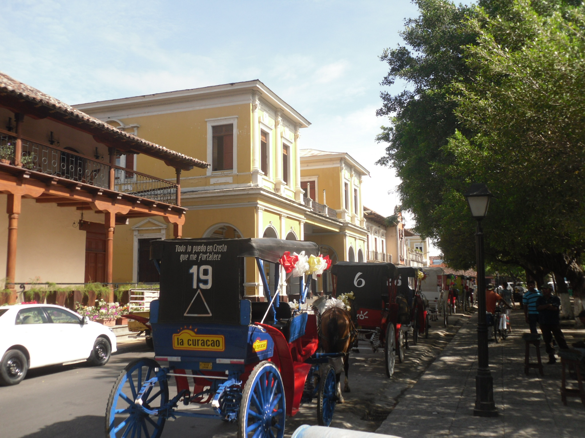 Horse drawn carriages in Granada Nicaragua