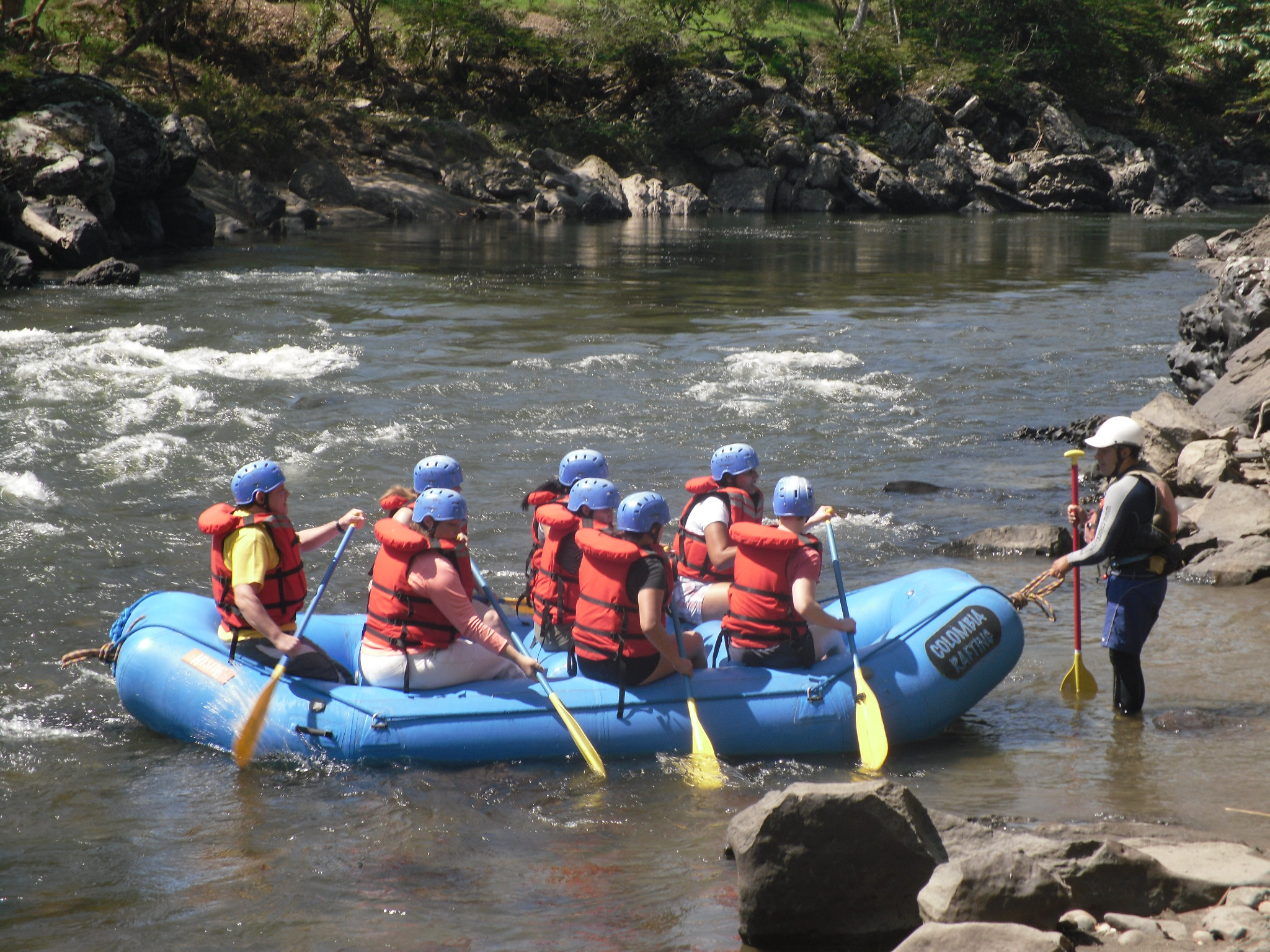 Adventure in Colombia-Rafting near San Gil