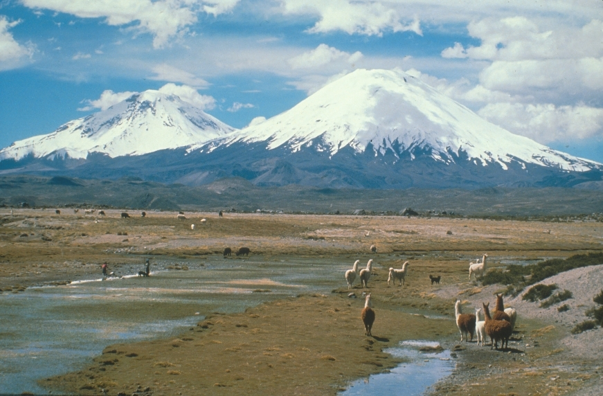 Scenic volcanoes of Chile