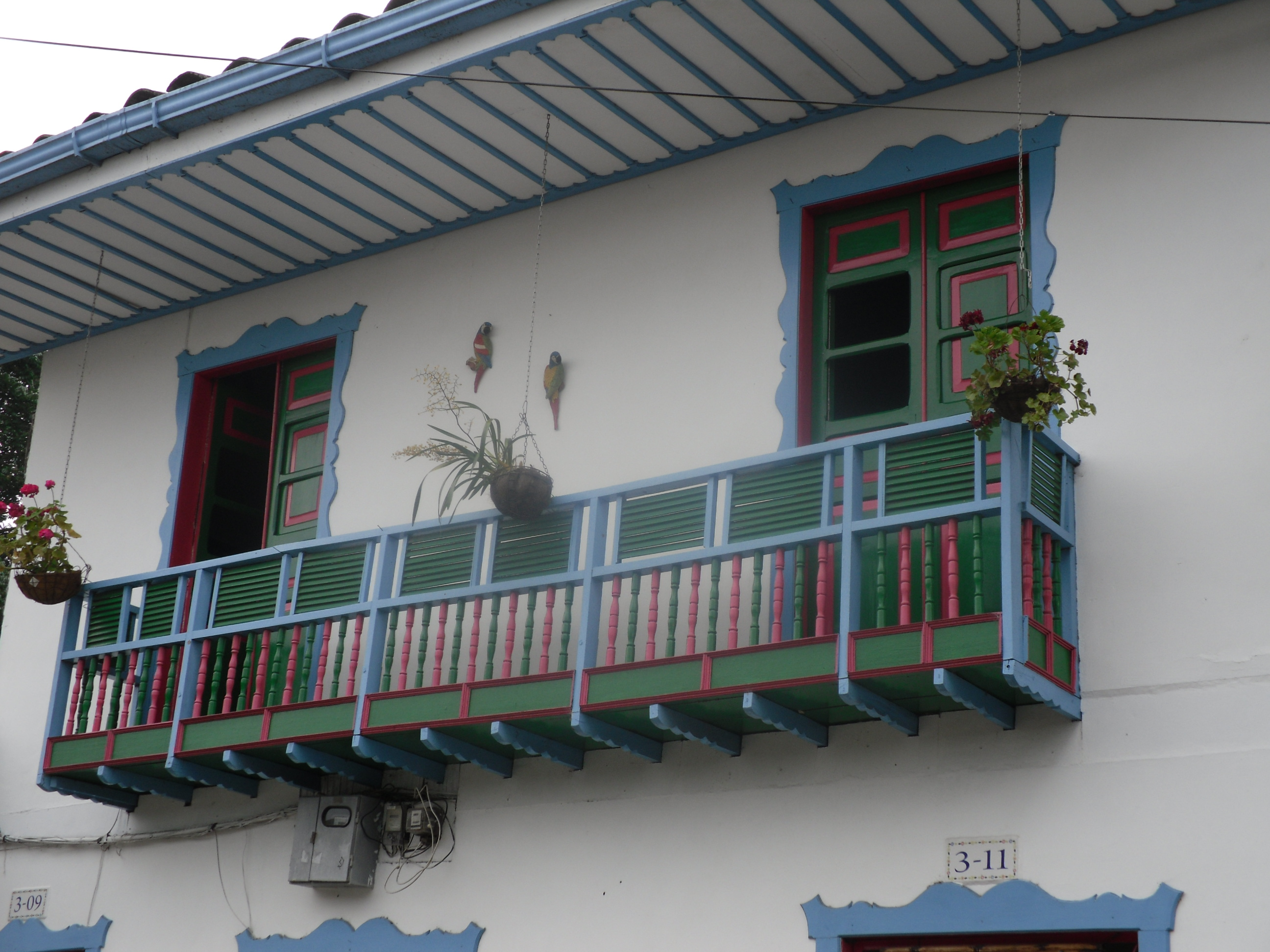 Charming architecture of Colombia's coffee country towns
